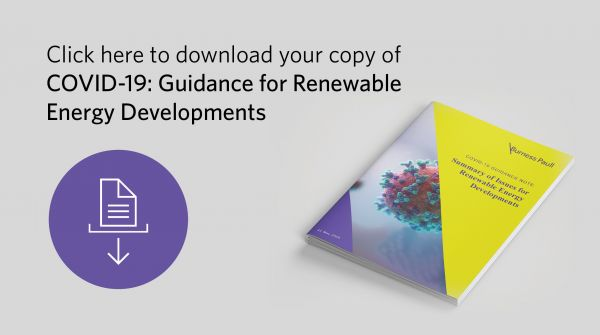 COVID-19: Summary of Issues for Renewable Energy Developments